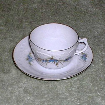 BFHS Porcelain Demitasse Cup and Saucer Set - China and Dinnerware