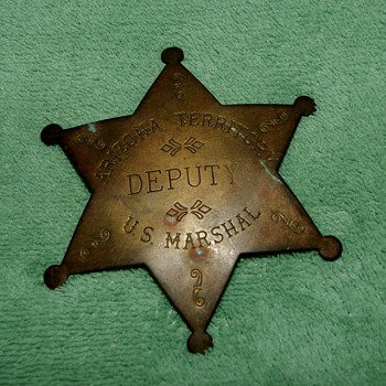 Is this Arizona Territory Deputy U.S. Marshal badge old or reproduction?