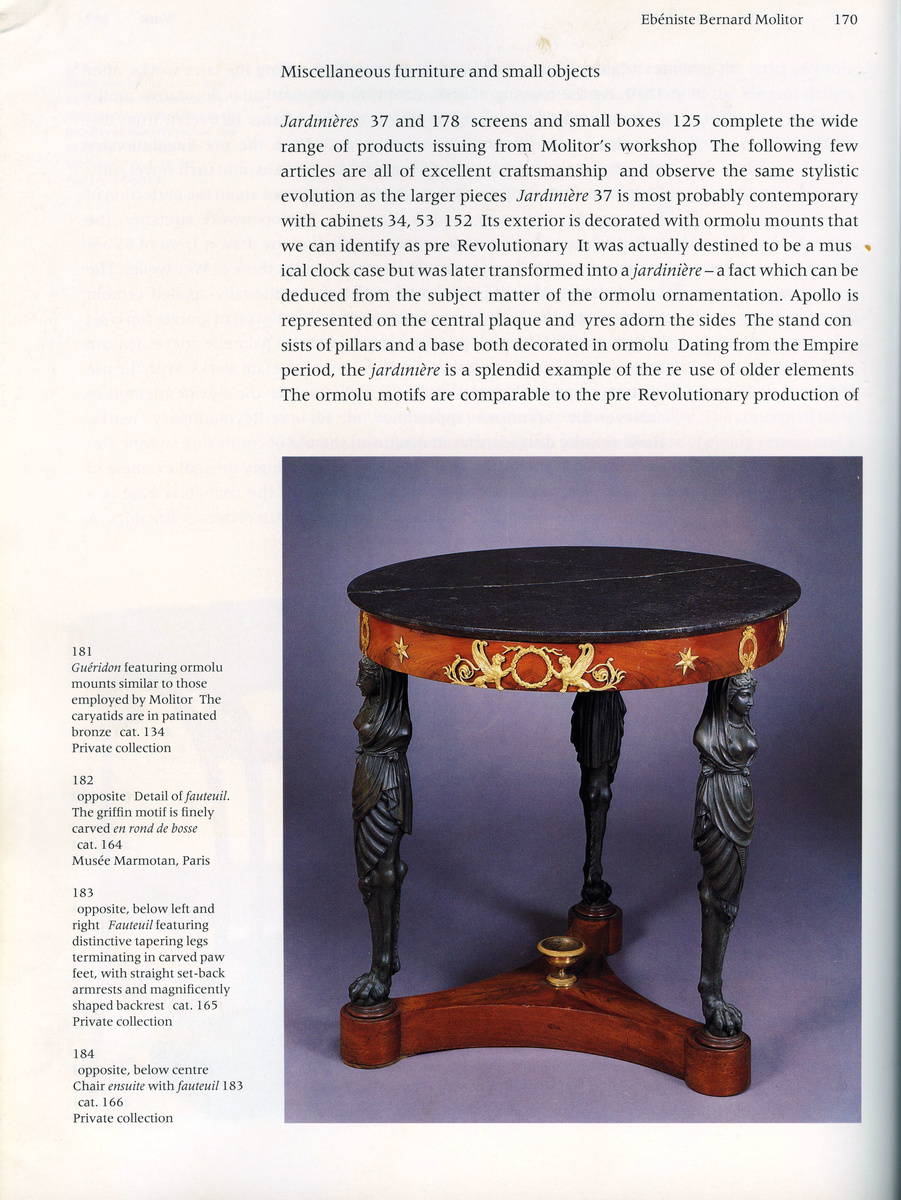 Orm0lu And Patinated Bronze Empire Center Table Or Guéridon, Circa  1805 1810, France, By Bernard Molitor | Collectors Weekly
