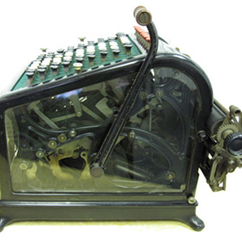1908 Burroughs Adding Machine with Beveled Glass - Office