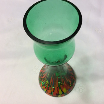 Unusual Kralik Shape and Colour Vase - Art Glass