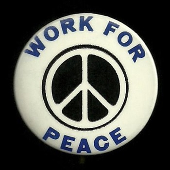 Nov 15, 1969 WORK FOR PEACE Pinback Button