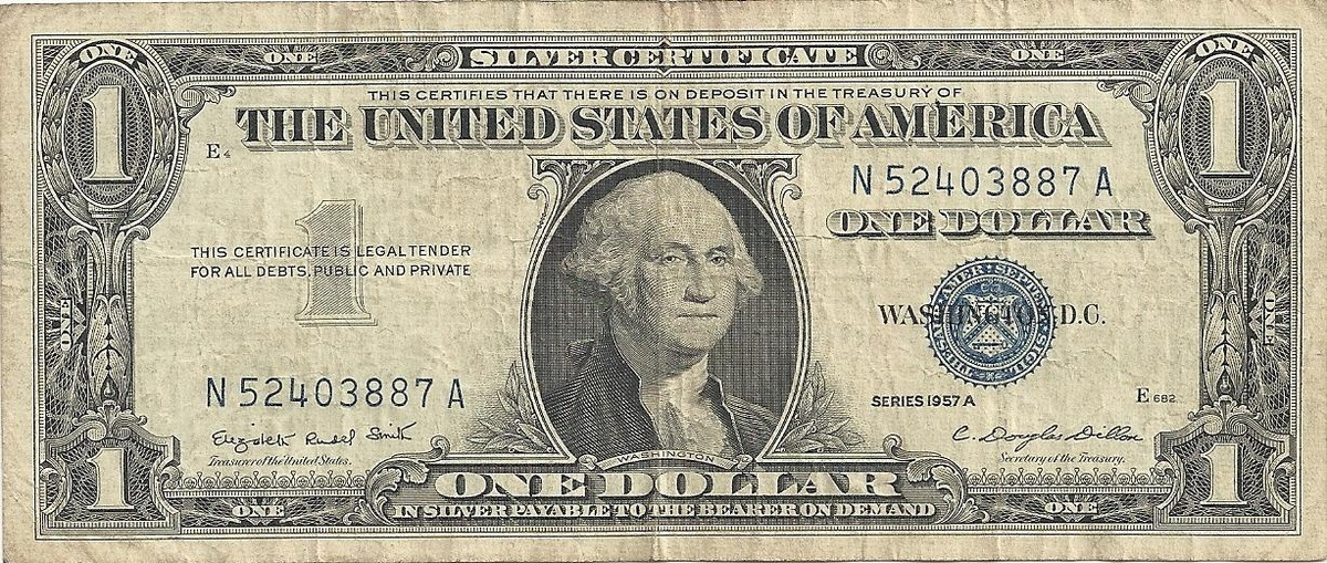 1957 A Silver Certificate Signatures Are Not Accurate Collectors