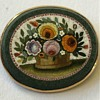 Micro Mosaic antique Flower basket Brooch set in 14 k