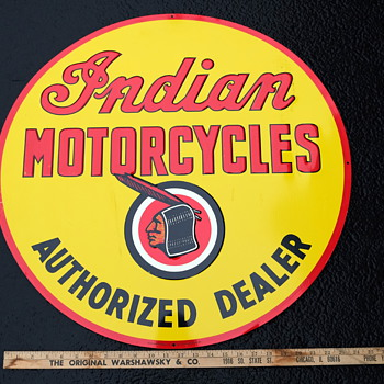 Indian Authorized Dealer sign  - Signs