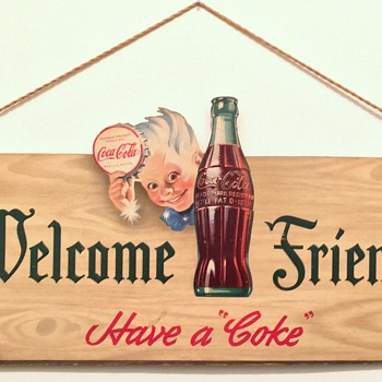 1944 Coca-Cola Cardboard Cutout Sign - Coca-Cola