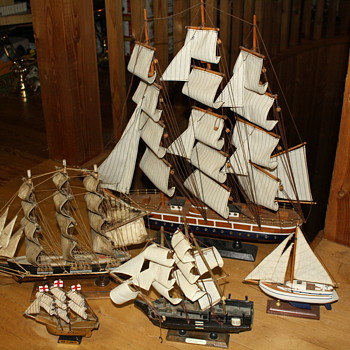 Wooden Model Tall Ships - Toys