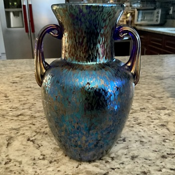 Loetz vase  Blue papillon  - Art Glass