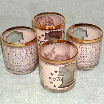 Bicentennial Bar Glasses - Glassware