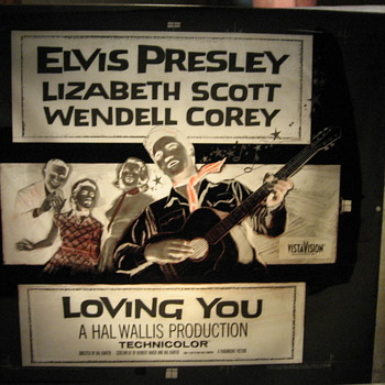 Elvis Presley poster plate's - Movies