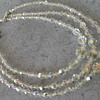 Vintage Faceted Glass Aurora Borealis 3 Strand Bead Necklace