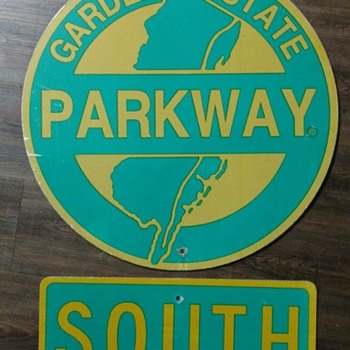 1980s Garden State Parkway Trailblazer Sign - Signs