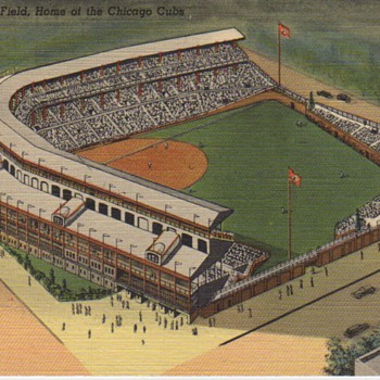 Old Wrigley Field Postcard.... - Baseball