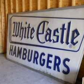 Vintage White castle sign 12x6 - Signs