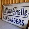 Vintage White castle sign 12x6