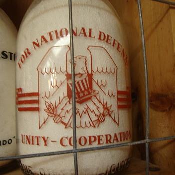 FAIR LAWN DAIRY...FAIR LAWN NEW JERSEY CREAMTOP WAR SLOGAN....UNITY EAGLE - Bottles
