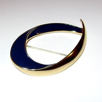 Trifari TM Enamel Brooch - Costume Jewelry