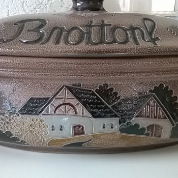 Thrift Shop Find For Today - German Salt Glazed Brottopf (Bread Bin) $8.00 - Pottery