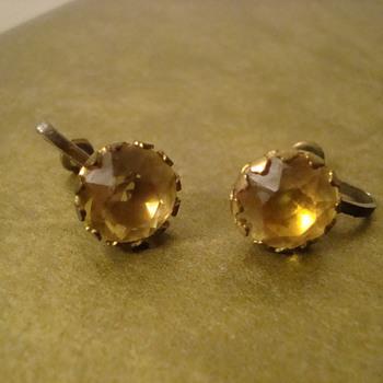 Really nice Citrine earrings - Costume Jewelry