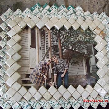 Prison Folk Art KOOL cigarettes hand crafted picture frame