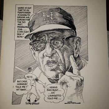 1962/63 bruce atark Casey Stengal art 1/1 - Baseball