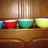 Primary Colors Set of Pyrex Mixing Bowls