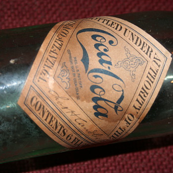EARLY PAPER LABEL COCA COLA CHAS H CANDLER PT