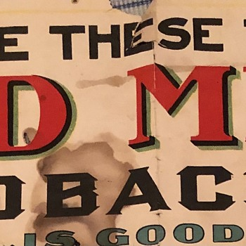 1905 Red Meat Tobacco Advertising Poster - Advertising