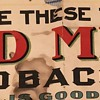 1905 Red Meat Tobacco Advertising Poster