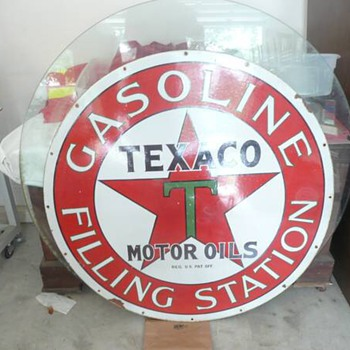 Texaco filling station sign, real or fake - Petroliana