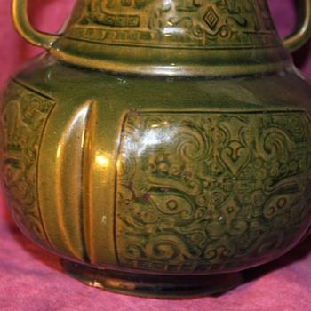 Ceramic Dragon Vase - no marks - Pottery