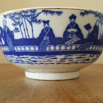 Blue Asian Bowl