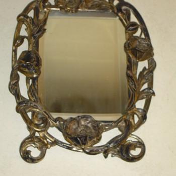 Victorian Solid Silver  Vanity Mirror - Victorian Era