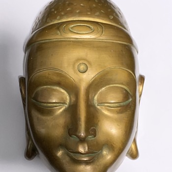 Buddha Wall Hanging Face Made In Germany Handiwork - Pottery