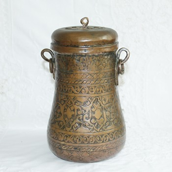 Islamic copper pot with 'earrings' - Asian