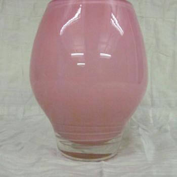 Pink vase _ art glass - Art Glass