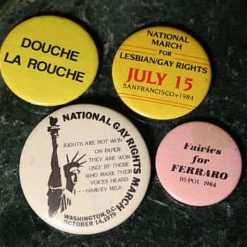 1984 Gay Rights Pins