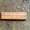 Vintage 1966 rabone boxwood 24 inch folding ruler .