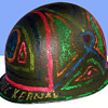"""Authentic Vietnam War Protest """"Cosmic Kernel"""" Helmet (c. 1969)"""