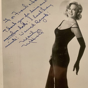 The Fabulous MARILYN MAXWELL 8x10 glossy inscribed  - Movies