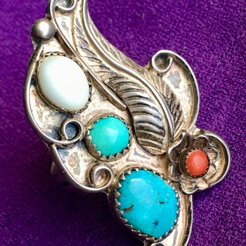 Sterling Multi Stone Navajo Ring  - Fine Jewelry