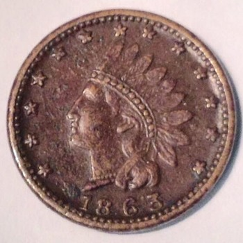 1863 Indianhead Civil War token - US Coins