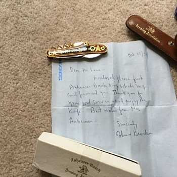 Authenticity Check Adolphus Bush Collector's Knife  - Breweriana
