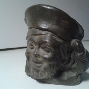 Vintage soapstone carving Pirates head figure - Figurines