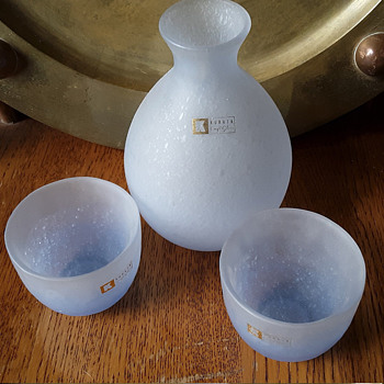 Kurata Craft Glass sake set - Art Glass