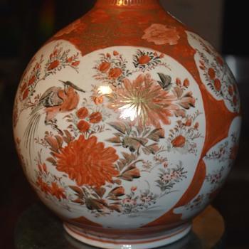 Huge Kutani Vase - Asian