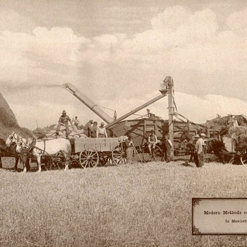 Farm Machinery in Canada - circa 1917 - Photographs