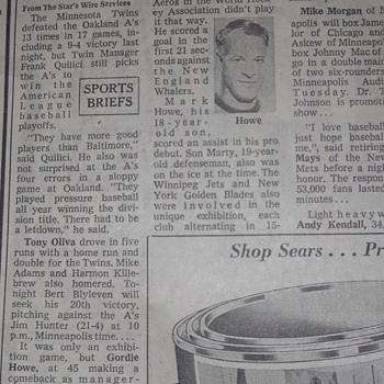 Gordie Howe Article - Hockey