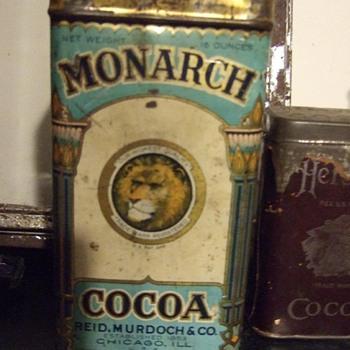 Monarch Cocoa Tin - Advertising