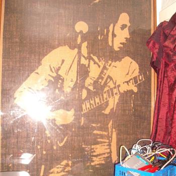 Bob Marley Burlap - Posters and Prints